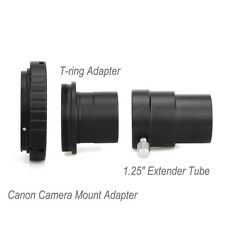 """New Canon Camera Mount Adapter+M42 T-Ring Adapter+1.25""""Extension Tube For Astro"""