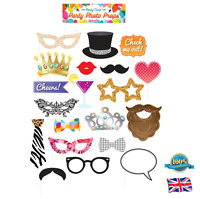 20Pcs PARTY PHOTO PROPS Party Wedding Birthday Photo Shoot Props Fancy Dress Fun