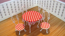Dollhouse Miniature Furniture  ~ Patio Table & Chairs ~ Fairy Garden ~ Cafe ~