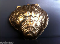 TRÈS CHIC POUDRIER COQUILLAGE 1960 made in France - Retro Compact SHELL