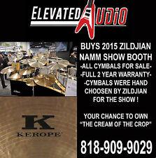 "Zildjian 22"" Kerope Medium Ride from Zildjian NAMM show booth, 2 YEAR WARRANTY !"