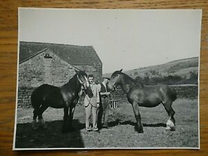 1930s Photo of Prizewinners at Fir Tree Farm, Fryup, near Whitby North Yorkshire