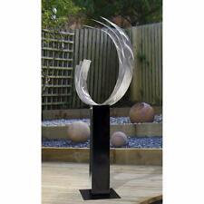 Large Silver Contemporary Metal Sculpture Art Decor - Triple C 24 by Jon Allen