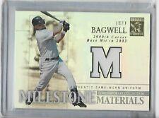 Jeff Bagwell milestone materials 2003 topps