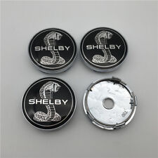 4PC For Cobra shelby GT500 Black Snake Chrome Wheel Rim Center Caps 60MM