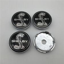 4PC SET For Black Shelby SVT Saleen Mach GT350 Chrome Wheel Rim Center Caps 60MM