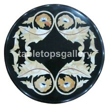"12"" Marble Small Side Coffee Table Top Mosaic Inlay Stone Furniture Decors B170"