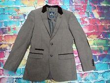 L37 Marc Darcy Tweed Velvet Ronny Blazer Jacket Mens Elbow Patches 34R