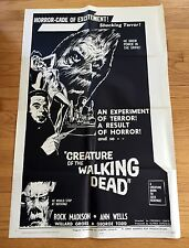 1965 CREATURE OF THE WALKING DEAD original one sheet HORROR monster movie poster