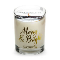 Fresh Strong Scented Pine Balsam Premium Blend Jar Candle Soy Wax-Merry & Bright