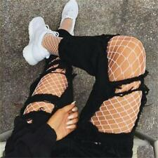 Large Hole Fishnet Breathable Elastic High Stockings Tights Pantyhose White