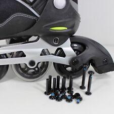 Inliner Ersatzteile | 6 mm ACHSEN-SET für 8 Skater Rollen Bremse | Black 20 tlg.