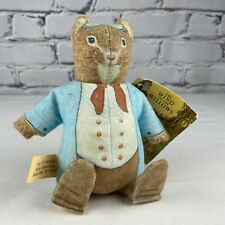 New listing Wind in the Willows Dearest Mouse Toy Works Bean Bag Plush Vintage 1981 Hang Tag