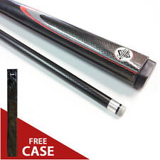 "BLACK ASH 57"" Inch Graphite Composite Pool Snooker Billiard Cue FREE CASE Gift"