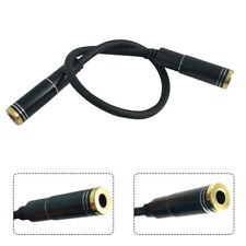 3.5mm AUX Stereo Audio Cable Female to Female for PC iPod MP3 CAR 0.2m Black 1pc