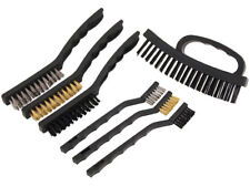 7PC Multi Purpose Wire Brush Set Copper Steel & Nylon Scratch Cleaning