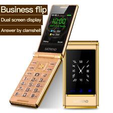"New Keyboard Mobile Phone Flip Dual Screen 3.0""GSM 2 SIM Telephone For Elder"