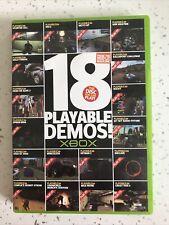 Xbox Original 18 spielbare Demos 2004 Starter Pack Disc können Sie Spielen PAL
