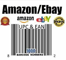 1000 EAN Numbers Barcodes Bar Code Number Amazon Ebay US Guarantee Email