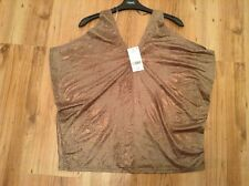 BNWT ��Next  ��Top blouse Size 14 Brown Evening Party New (42 EU) Holiday