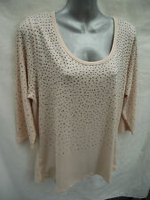 BNWT Ladies Sz 14-16 Undercoverwear Gentle Pink 3/4 Sleeve Sparkle Top RRP $59