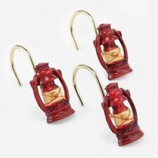 Blonder Home CAMPING TRIP SHOWER Curtain Lantern HOOKS RINGS NEW