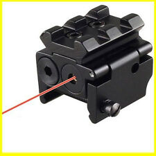 Optics Red Laser Dot Sight Scope 20MM Rail Picatinny Mount For Pistol Rifle Gun