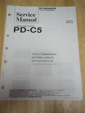 Pioneer Service Manual~PD-C5 CD Compact Disc Player~Original~Repair~w/fiche