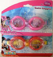 Disney MINNIE & MICKEY MOUSE CLUBHOUSE swim goggles 2 pieces