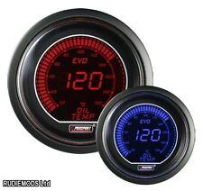 Prosport 52mm Evo coche la temperatura del agua de calibre rojo y azul Lcd Pantalla Digital