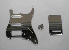 Silver Mirror Strat ST HSS Guitar Pickguard Tremolo Trem Cover fits Fender Strat