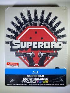 SUPERBAD Blu-Ray Steelbook BRAND NEW Best Buy Project Pop Art FACTORY SEALED