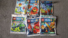 Collection of 6 Limited Edition Nexo Knights Lego Minifig Foil Packs  - BNSIB