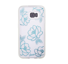 Sonix Clear Coat Florette Blue Flower Clear Back Case Shock Absorbent Galaxy S7