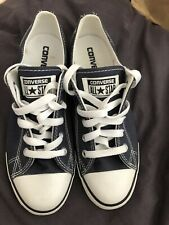Navy Converse Plimsole Trainers Size 4 Brand New