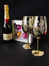 Moet Chandon Imperial Brut 0,75l 12% Vol + 2 Gläser + 4 Weihnachtskugeln