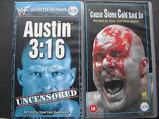 2x WWF WWE SILVERVISION Austin 3:16 cause Stone Cold Said ainsi VHS WF 192 WF 203