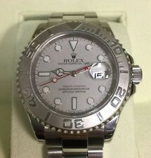 MENS ROLEX SS & PLATINUM YACHTMASTER 16622, M SERIAL, SOLD 2011, BOX & CARD!!