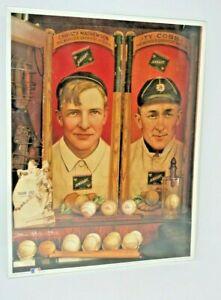 No. 11 Christy And TY MLB Legends Print Collectible Memorabilia Mathewson/Cobb