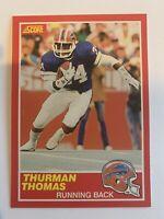 THURMAN THOMAS 1989 Score Rookie #211 Buffalo Bills RC HOF