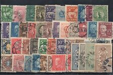 Old classic stamps of Sweden used collection