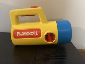 Playskool COLOR CHANGING Toy Flashlight - Vintage 1986, RARE