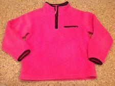 Green Dog Girls Size 6X Pink w/ Black Trim Polar 1/4 Zipper Fleece Pullover Worn