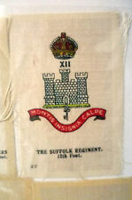B.D.V. Cigarettes Silk - HMS THE SUFFOLK REGIMENT 12th Foot (7x5 cm)