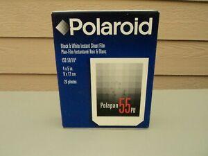 New Sealed Polaroid Polapan 55 PN Black & White Film (20 Photos) 4x5 RARE!