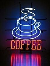 "New Coffee Cup Open Bar Cub Party Decor Light Lamp Decor Neon Sign 17""x14"""