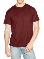 Hanes Men's Beefy-T Crew Neck Short Sleeve T-Shirt, Cardinal, M