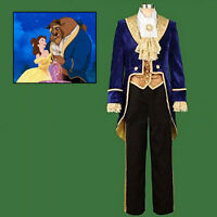 US!Beauty and the Beast Prince Tuxedo Halloween Cosplay Costume  Men Full Outfit