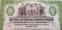 1953 New York New Haven & Hartford Railroad Bond Stock Certificate