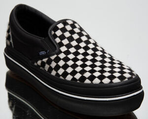 Vans Super ComfyCush Slip-On Unisex Men's Women's Black White Sneakers Shoes